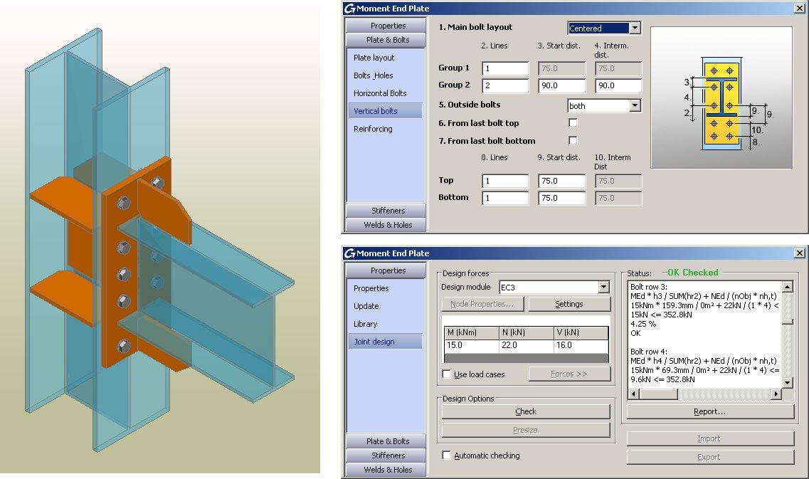 GRAITEC Autodesk Advance Steel | Eurocodes 3 connection design