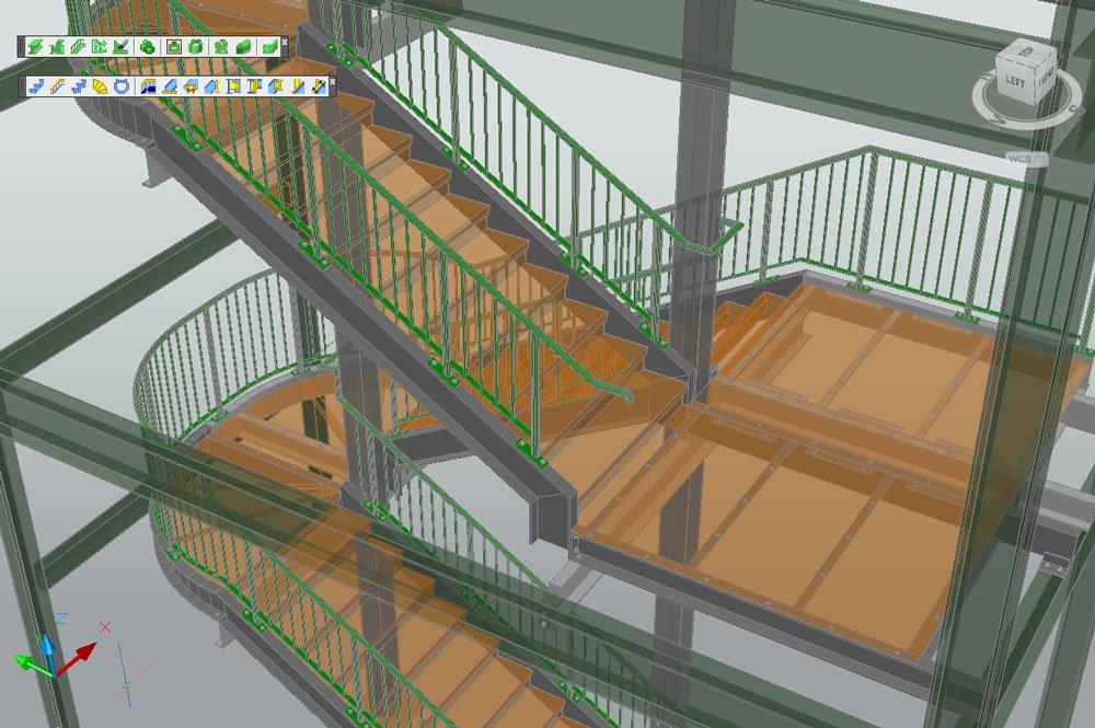 Stairs And Railings Autodesk Advance Steel Graitec Usa