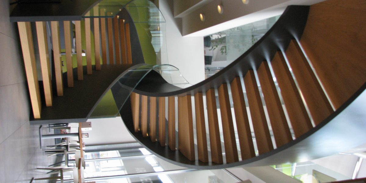 Multicircle Steel and Glass Stair