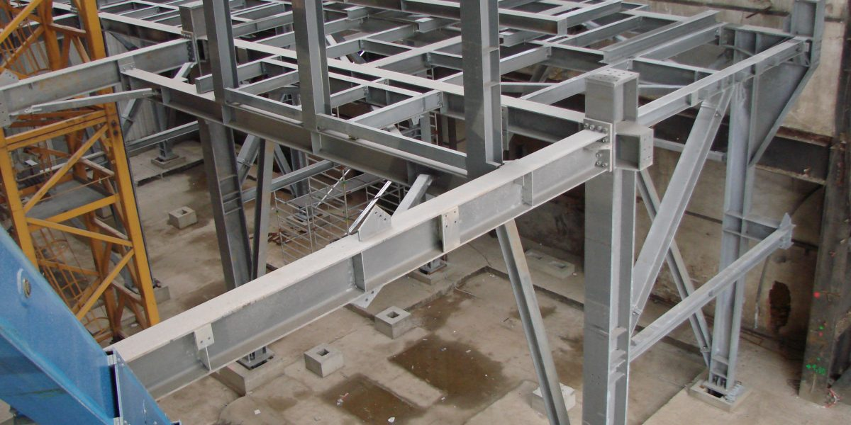 Steel structures for waste incinerator plant