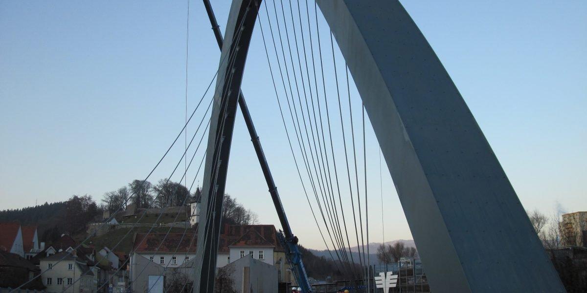 Bridge Hochalmbahn in Bruck at the Mur